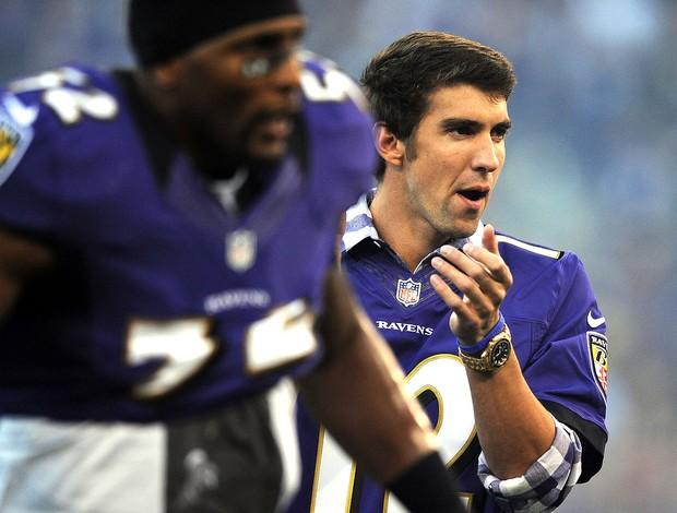 Phelps partida da NFL Baltimore Ravens  (Foto: Getty Images)