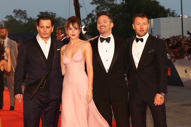 Elenco de 'Black Mass' na première em Veneza (Foto: Getty Images)