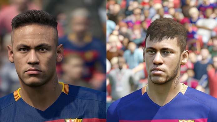 Neymar está caprichado nos dois games (Foto: Reprodução/Murilo Molina)