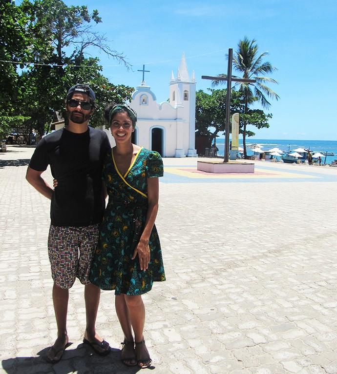 Bela Gil e João Paulo Demasi posam para o Gshow (Foto: Nathália Gomes/Gshow)
