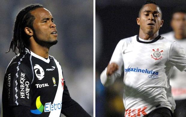 Montagem patrocínios Vasco e Corinthians (Foto: Montagem com fotos da Agência O Globo)
