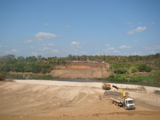 Construção da nova ponte do Rio Poti (Foto: Catarina Costa / G1 PI)