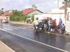 Acidente entre carro e moto deixa homem ferido em Campina Grande