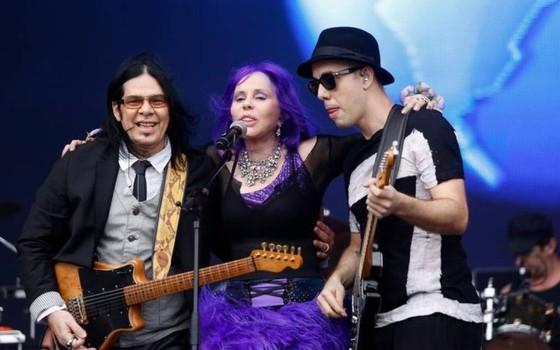 Pepeu com Baby e Pedro Baby no Palco Sunset, do Rock in Rio, em 2015 (Foto: Agência O Globo)