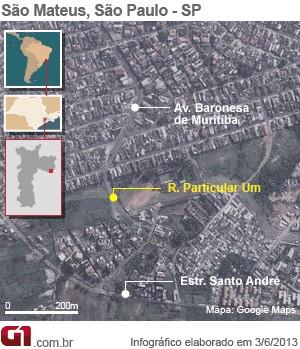 Mapa São Mateus (Foto: arte/g1)