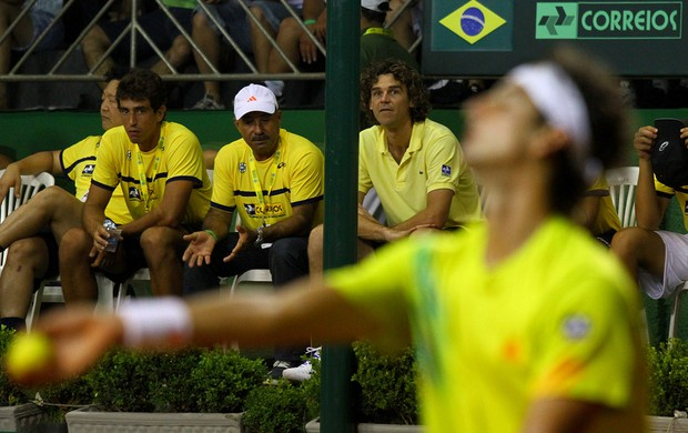 Gustavo Kuerten Guga tênis Rio Preto Copa Davis Thomaz Bellucci (Foto: Luiz Pires/FOTOJUMP)