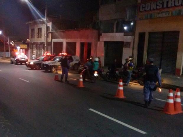 Barreira policial foi montada em todas as Zonas de Manaus (Foto: Divulgação/Polícia Militar)