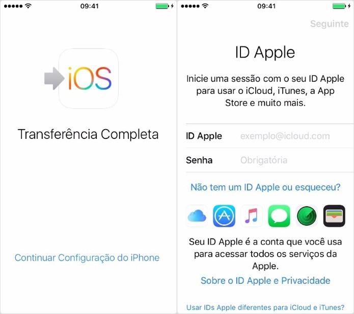 Proceda com a configuração do iPhone (Foto: Reprodução/Helito Bijora)