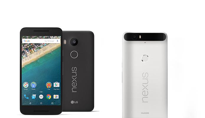 Nexus 5X e 6P, fabricados por LG e Huawei, lançados com Android 6.0 em 2015 (Foto: Divulgação)