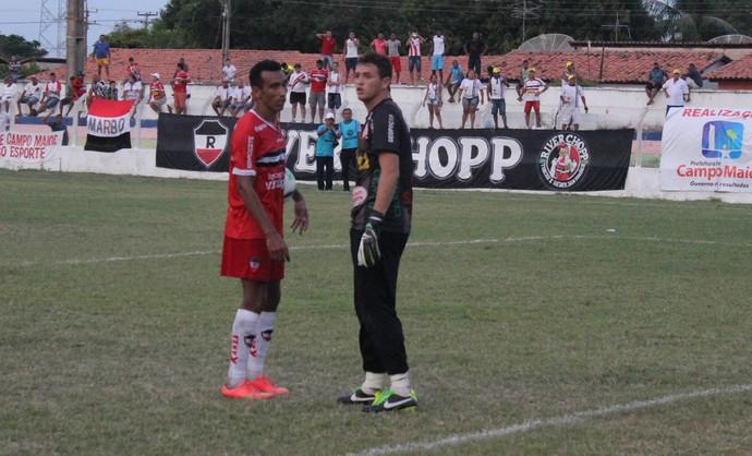 Eduardo e Tony - River-PI x Caiçara (Foto: Emanuele Madeira/GloboEsporte.com)