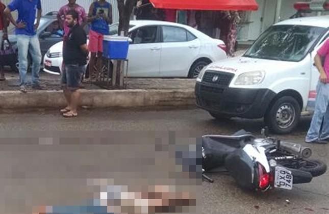 Motociclista morre atropelada por veículo de carga em Santa Rita, MA (Foto: Polícia Rodoviária Federal / Divulgação)