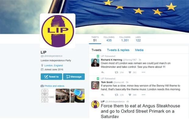 No Twitter, eleitores defendem que capital se separe do Reino Unido para ficar na Europa; petição online reúne 20 mil assinaturas (Foto: Reprodução)