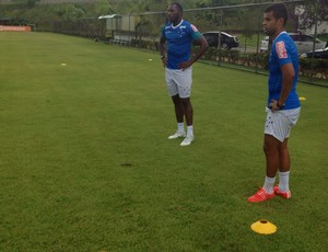 Manoel e Alisson, Treino Cruzeiro (Foto: Luciana Machado)
