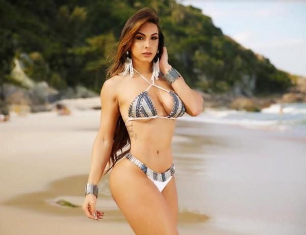 A modelo e atleta já venceu um concurso de fisiculturismo em São Paulo e concorre a outro no domingo (15) (Foto: Divulgação)