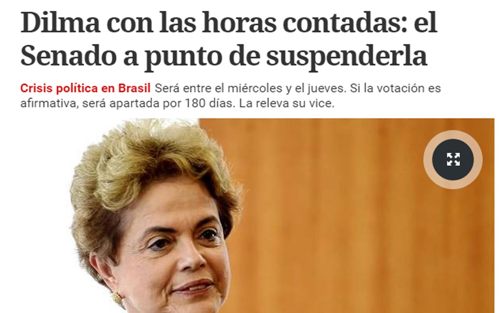 Argentino Clarín lembra que parlamentares que votam afastamento de Dilma são suspeitos de corrupção. (Foto: Reprodução/G1)