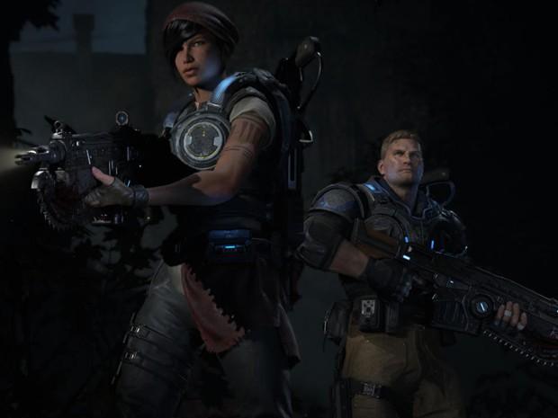 Trailer de 'Gears of War 4' mostrou nova dupla de protagonistas, mas não há confirmação se personagens antigos retornam (Foto: Divulgação/Microsoft)