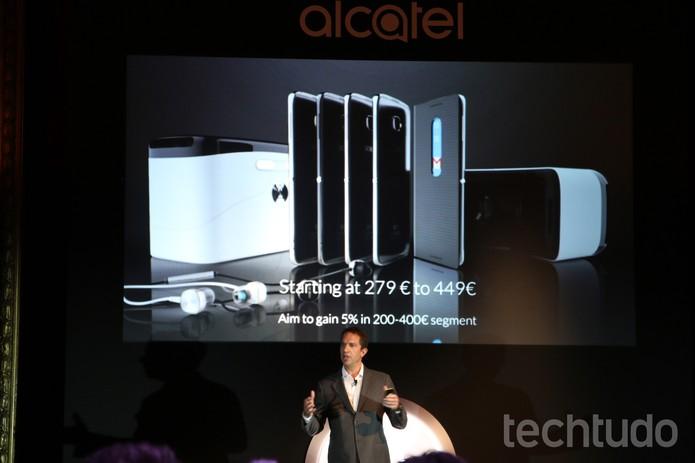 Alcatel inaugura MWC com nova linha Idol e mudança de logo (Foto: Fabrício Vitorino/TechTudo)