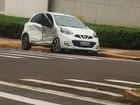 Colisão entre dois veículos deixa três pessoas feridas em Pres. Prudente