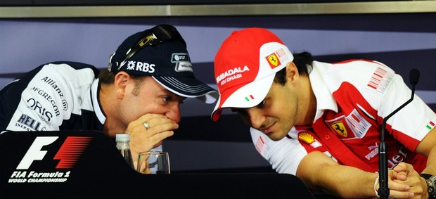 F-1 Felipe Massa Rubens Barrichello (Foto: Getty Images)