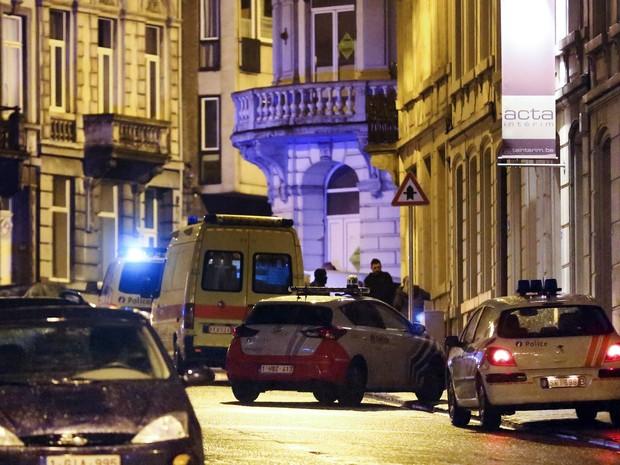 Ataque jihadista em Verviers, na Bélgica (Foto: Bruno Fahy/Belga/AFP)