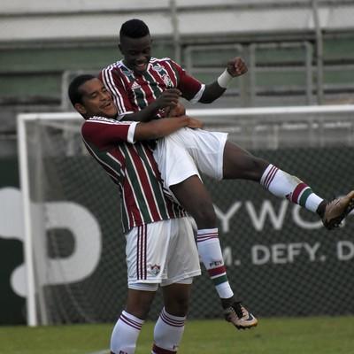 Fluminense 2 x 0 Goiás pelo Brasileiro Sub-20 -  Danilo comemorando gol (Foto: MAILSON SANTANA/FLUMINENSE FC)
