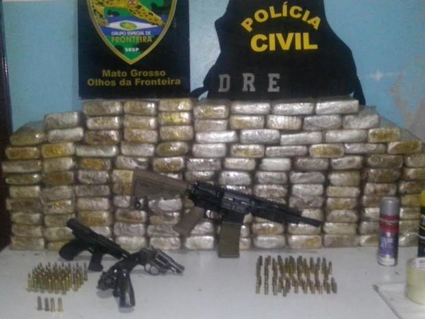 Investigações levaram à apreensão de mais de 250 quilos de cocaína em 2015 (Foto: Assessoria/Polícia Civil de MT)