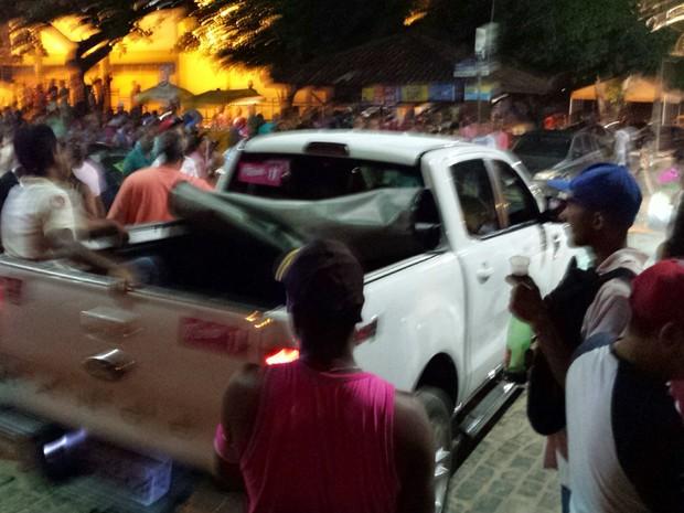 Comício aconteceu Ginásio de Esportes Clériston Andrade, em Ipiaú (Foto:  Giro Ipiaú)