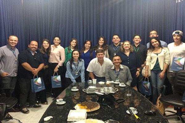 Profissionais das agências se reuniram na TV Integração em Uberaba (Foto: Divulgação)
