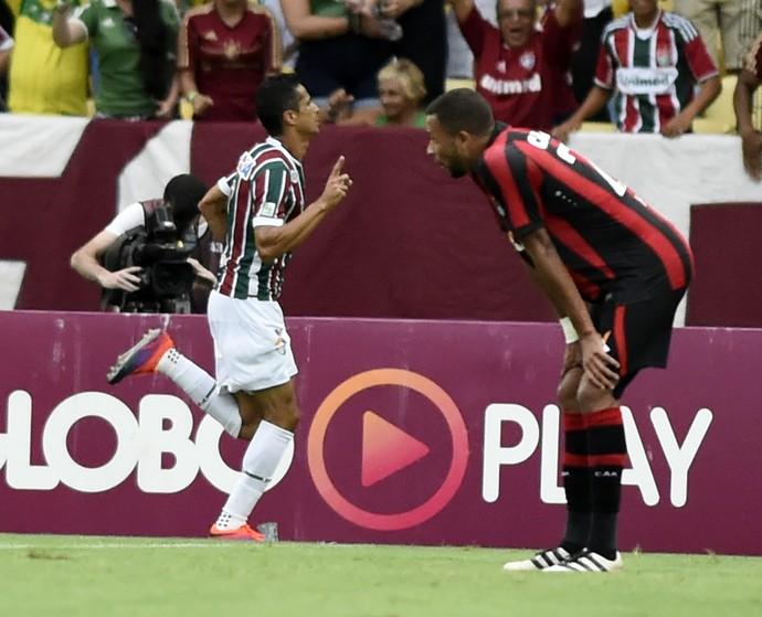 cícero fluminense gol atlético-pr (Foto: André Durão / GloboEsporte.com)