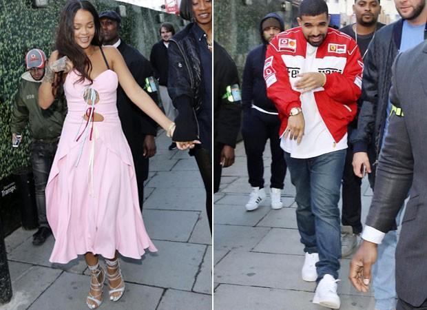 Sorridentes, Rihanna e Drake curtem festa de Nicole Scherzinger