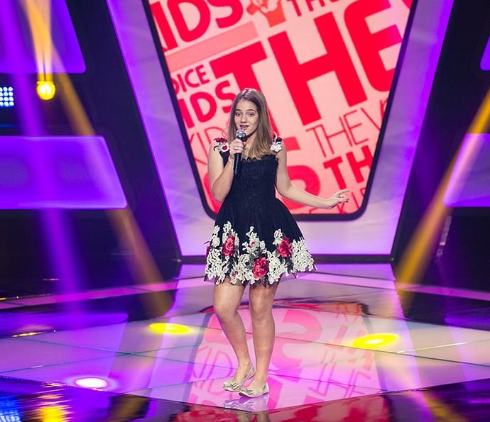 Tábatha Almeida canta 'Dear Future Husband' na Audição do The Voice Kids (Foto: Isabella Pinheiro/Gshow)