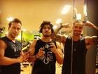 Felipe Titto, Caio Castro e Rodrigo Andrade malham juntos