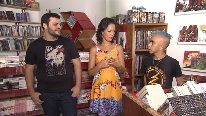 Entre as preferências, nerds listam história em quadrinhos, cinema, séries, cosplay e livros (Foto: TV Bahia)