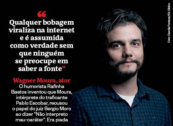 Wagner Moura, ator. Ele não disse o que tanta gente disse que ele havia dito (Foto: Editoria de Arte)