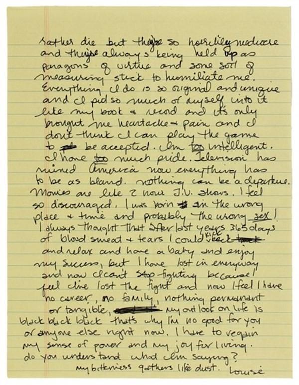 A segunda página da carta de Madonna com críticas a Sharon Stone (Foto: Reprodução)