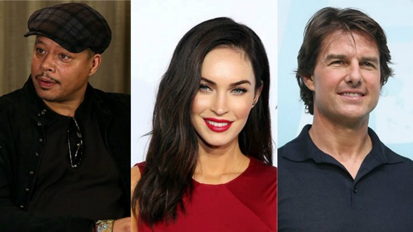 Terrence Howard, Megan Fox e Tom Cruise (Foto: Getty Images)