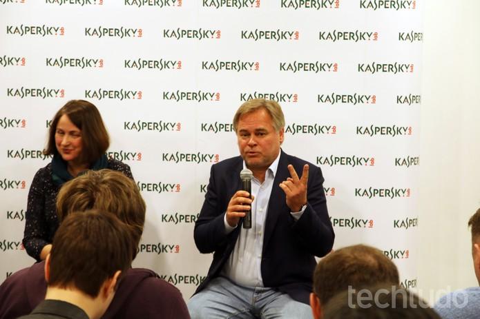 Para Evgenii Kaspersky, usuário deve ficar sempre paranóico (Foto: Fabrício Vitorino/TechTudo)