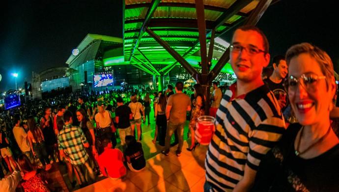 Entorno da Arena Pantanal recebe show (Foto: Chico Valdiner/Secom/MT)