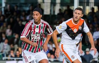 """Ronaldinho diz """"bye, bye"""" de vez para o Flu em jogo contra velho rival Inter"""