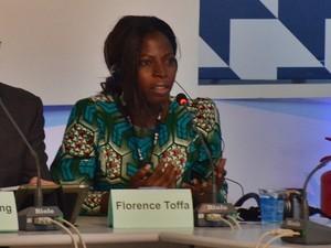 Florence Toffa, diretora da ONG Mobile Web Ghana (Foto: Diogo Almeida/G1)
