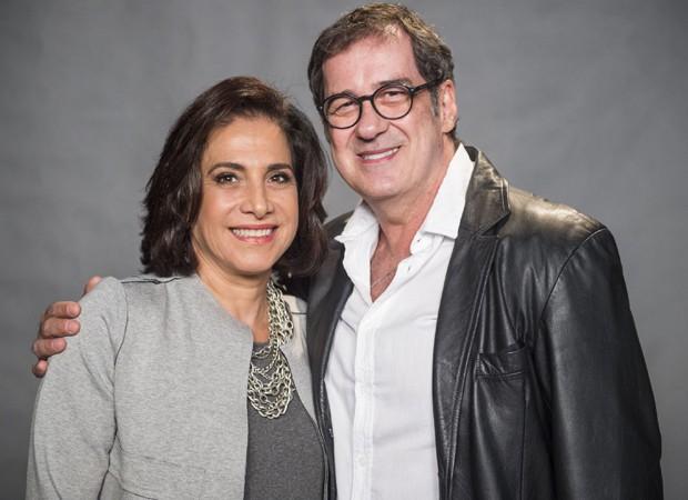 Totia Meirelles e João Camargo vivem casam em 'A Força do Querer' (Foto: Divulgação/TV Globo)