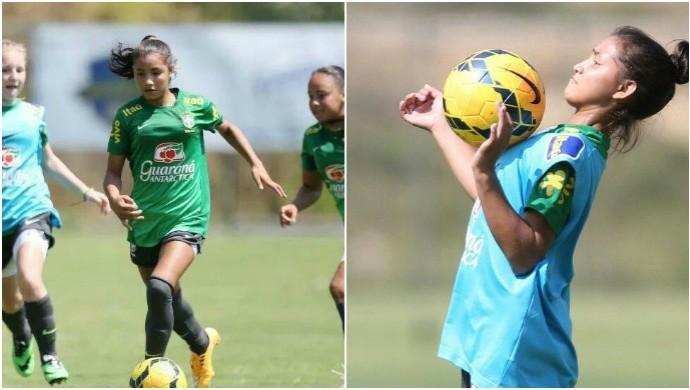 Micaelly integra seleção brasileira de futebol feminino sub-15 desde segunda-feira (Foto: GloboEsporte.com)