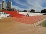 Arquibancada do OBA já é pintada para estádio receber jogos da Série B