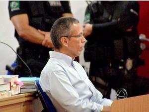 João Arcanjo Ribeiro enfrenta júri em Cuiabá. (Foto: Reprodução/TVCA)