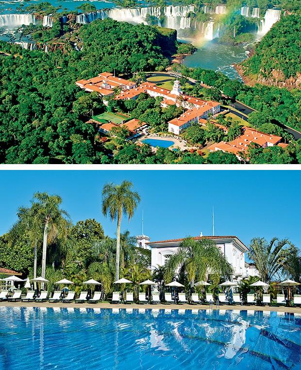 O Belmond Hotel das Cataratas, com sua piscina  e jardins, é o único hotel  localizado dentro do Parque  Nacional do Iguaçu, Patrimônio  Natural da Humanidade  (Foto:  )
