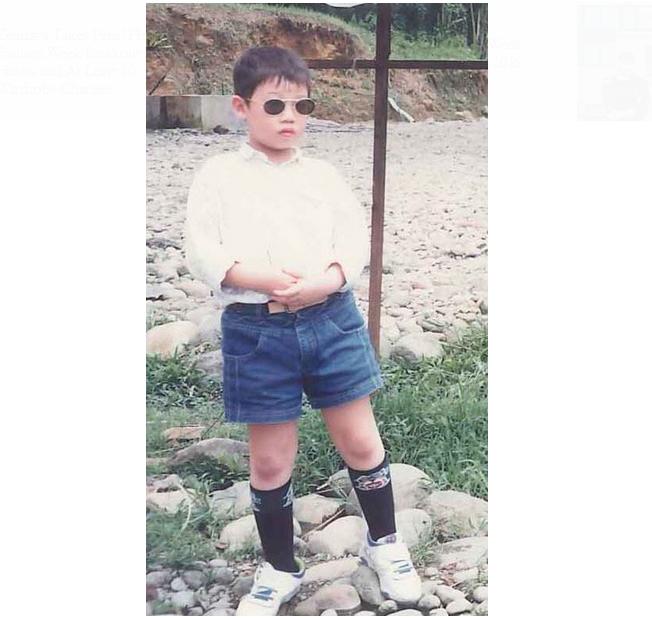Jason Wu já mostrava ser estiloso desde pequeno (Foto: Reprodução)