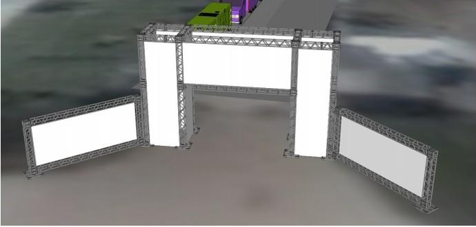 Imagem mostra como ficará o arco de entrada (Foto: Reprodução WSL)