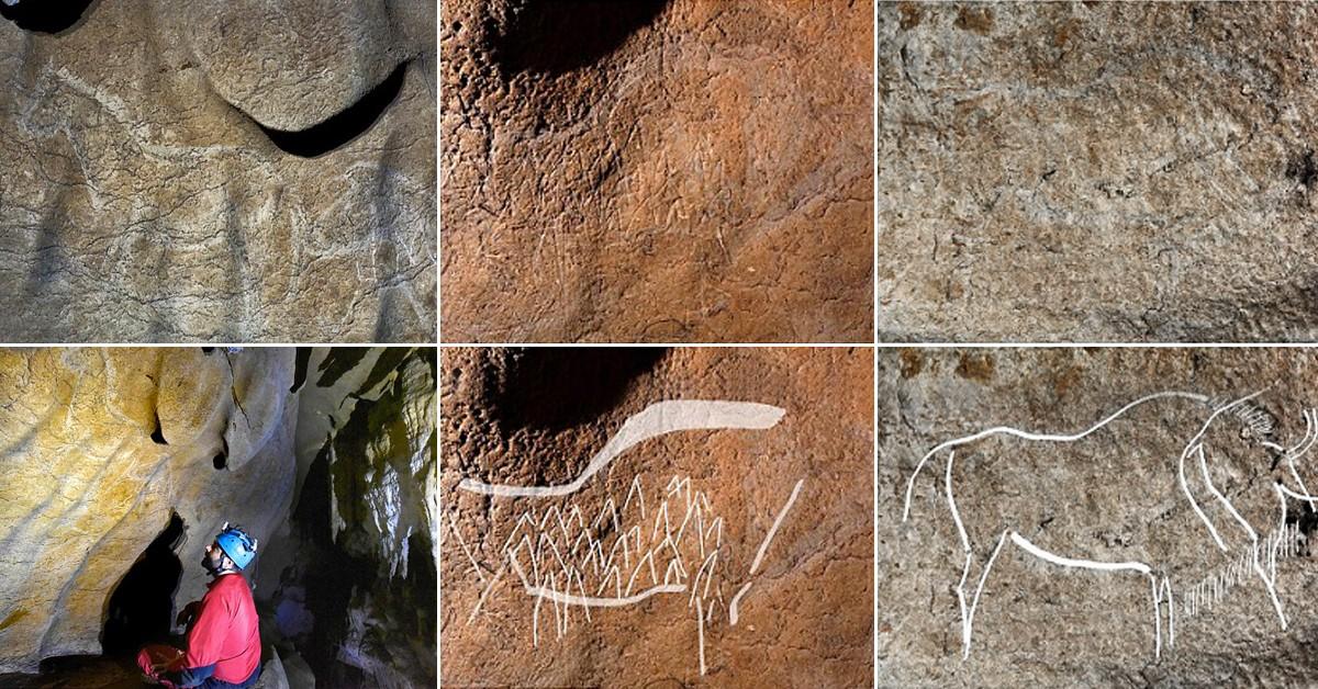 Desenhos representam, em sua maioria, animais que eram caçados pelos seres humanos da época (Foto: Reprodução/Youtube)