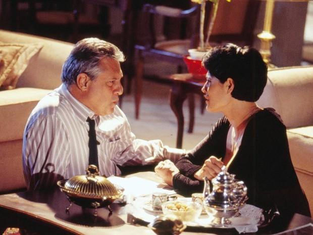 Otávio (Antonio Fagundes) e Diná (Christiane Torloni)