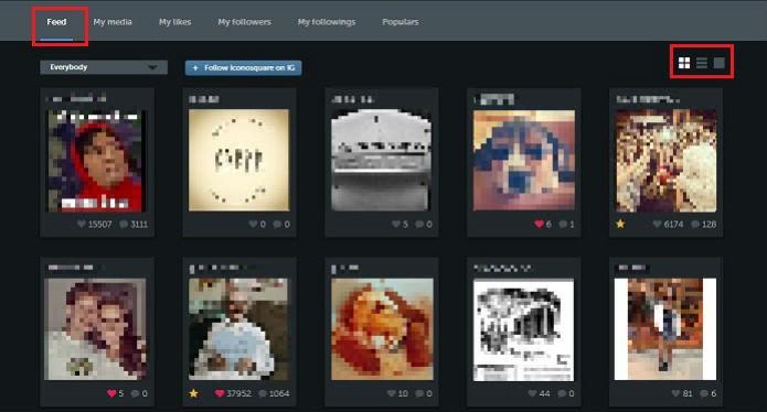 É possível visualizar as fotos postadas por amigos  (Foto: Reprodução/Taysa Coelho)